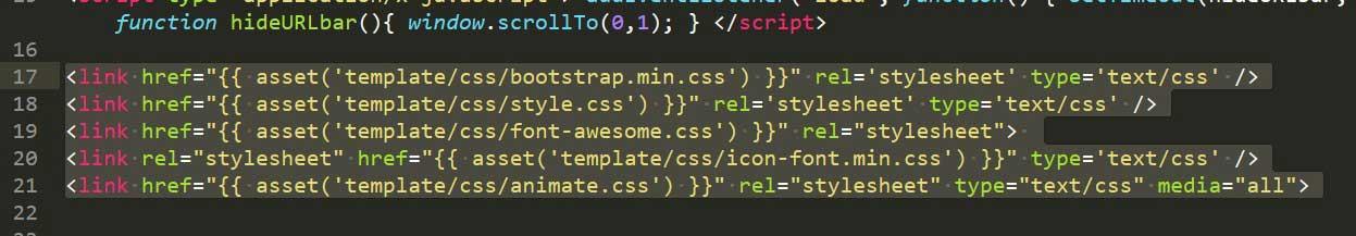 Example CSS Code