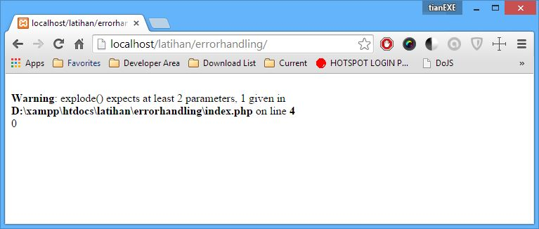 Error Warning Expect Parameter