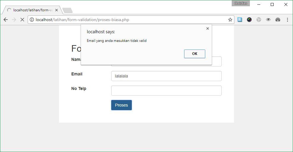 Contoh Alert Javascript Standar